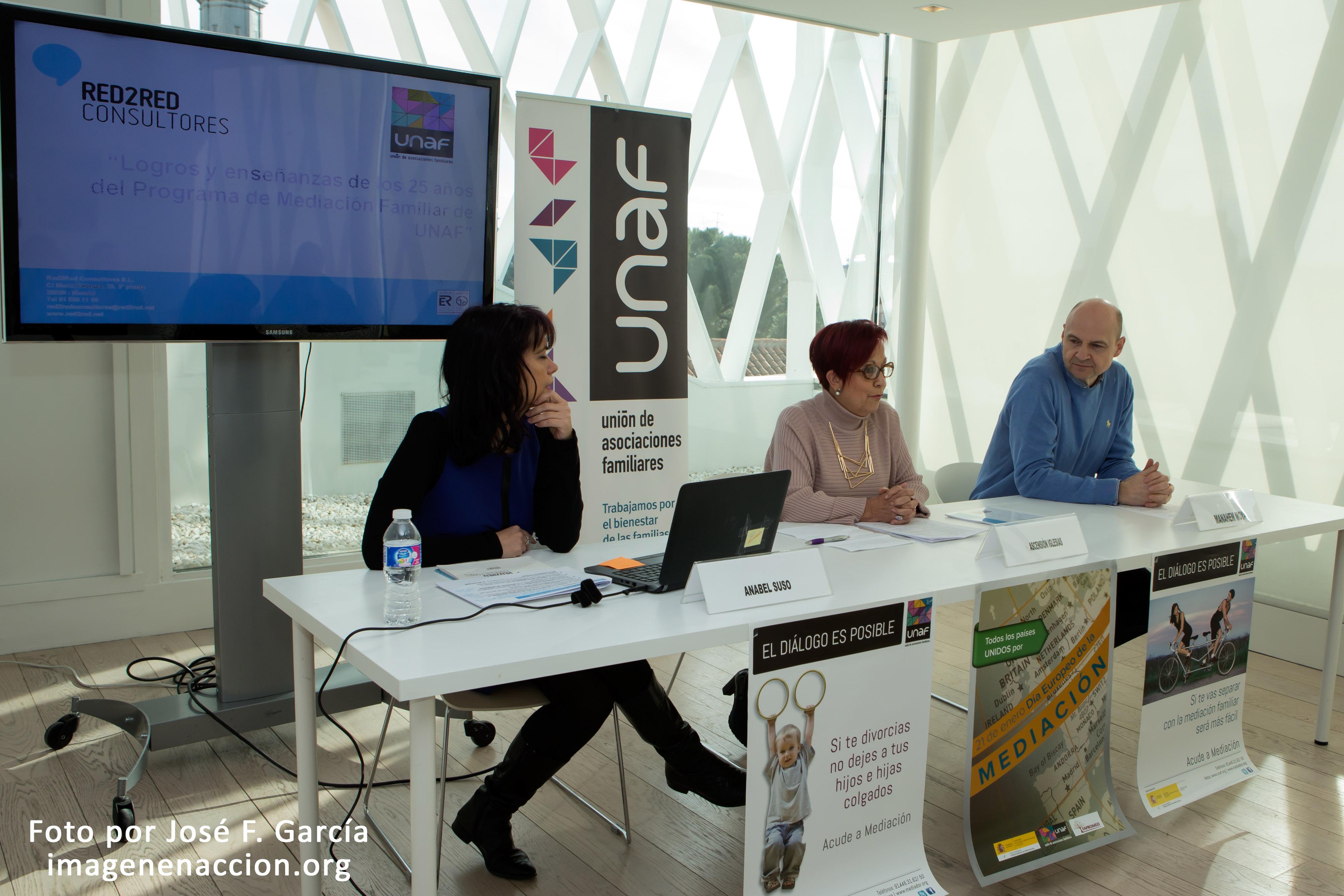 UNAF analiza los logros y enseñanzas de los 25 años de su Programa de Mediación Familiar en un estudio