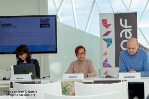 Ascensión Iglesias, presidenta de la UNAF, durante la presentación