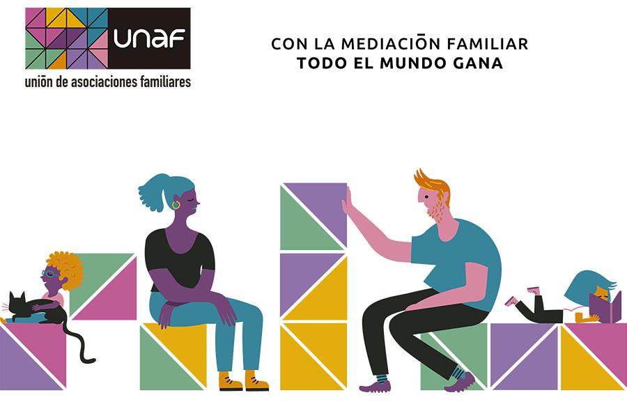 UNAF lanza la campaña 'Con la mediación familiar todo el mundo gana'