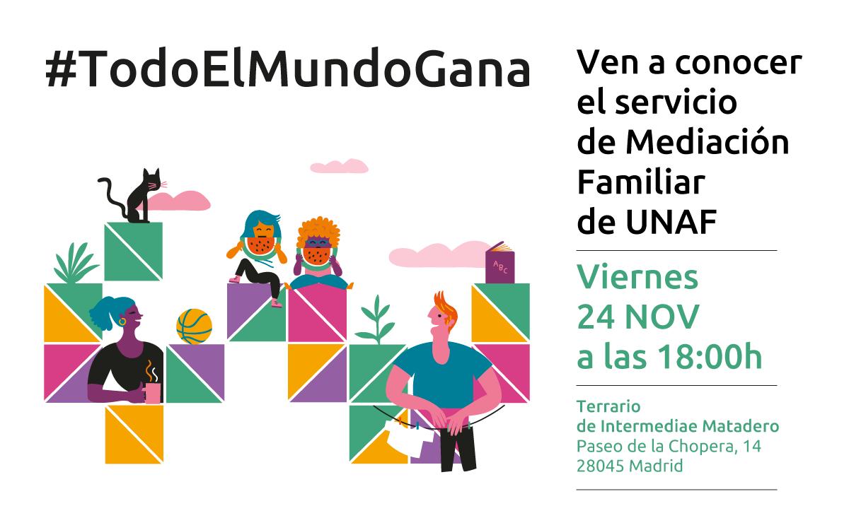 UNAF organiza el encuentro #TodoElMundoGana para dar a conocer la mediación familiar