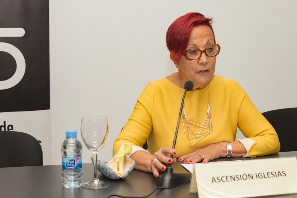 La presidenta d UNAF Ascensión Iglesias en la Jornada Mediación Educativa para transformar la convivencia. Foto: José F. García / imagenenaccion.org